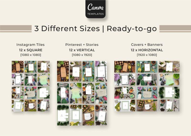 Gardening mockup for Canva