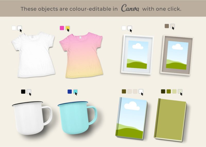 Object surfaces in mockups