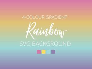 Rainbow Gradient SVG Background