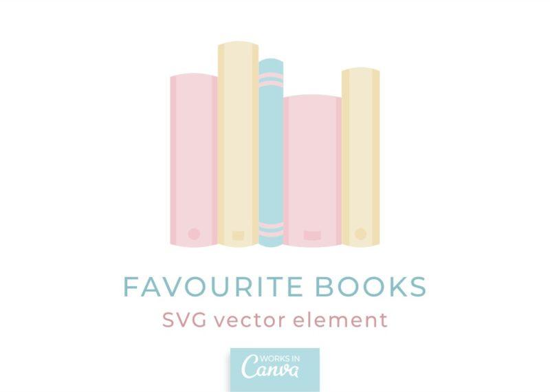 Favorite books SVG element