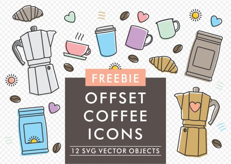 Offset Coffee Icons