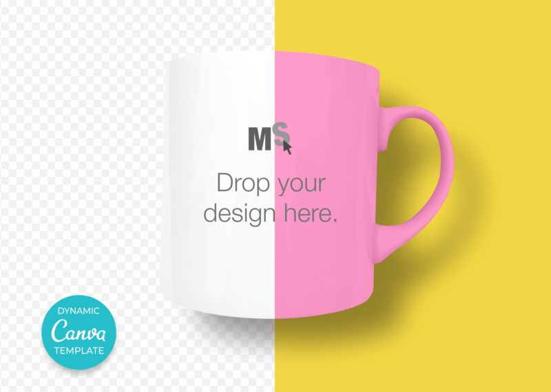 Coffee Cup Mockup Template for Canva