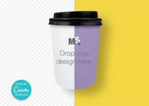 Takeaway coffee cup mockup for Canvas