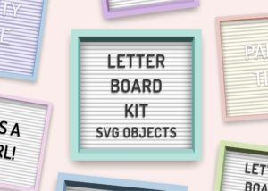 Letterboard SVG kit for Canvas