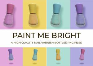 Paint me Bright Nail Varnish Bottles PNGs