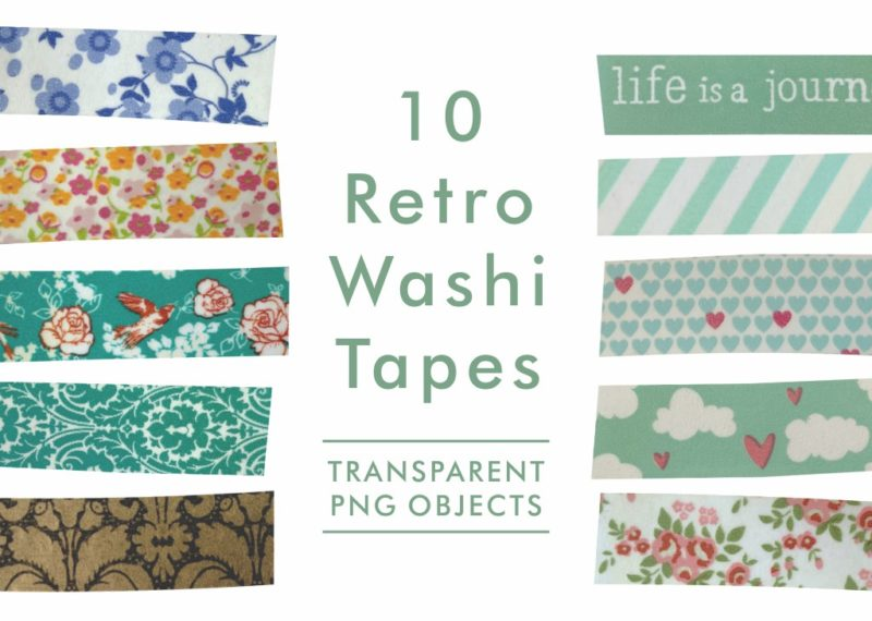 Retro Washi Tapes PNGs