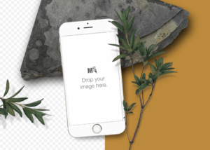 iPhone mockup template for Canvas